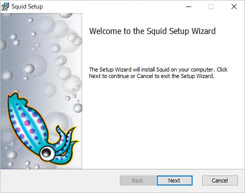 squidのインストール